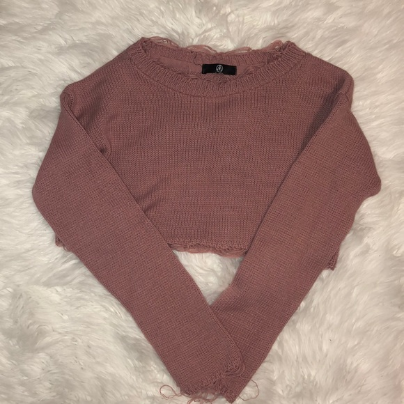 Missguided Tops - Missguided distressed cropped sweater